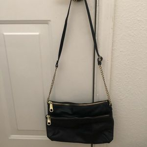 H&M black shoulder purse